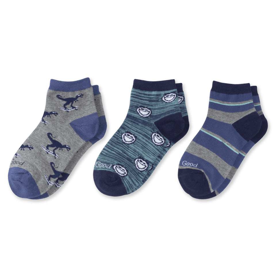 3-pack Boys Jake & Dinosaur Quarter Socks