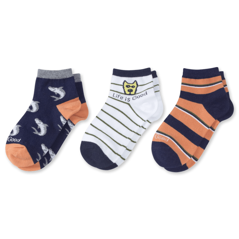 Our quarter socks are made to pop a little optimism into your wardrobe and styled to peek out of your shoes for the world to see! They´ve also got a comfort toe and soft stretch welt for optimal wearability.
