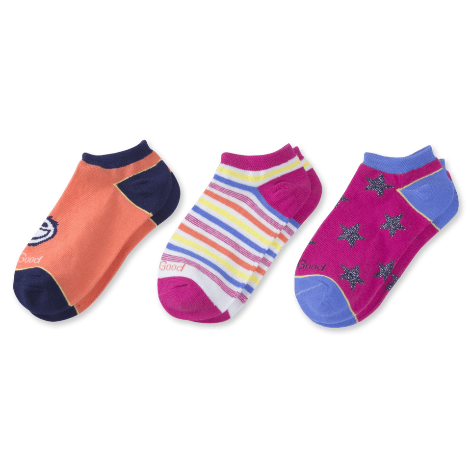Our 3-pack, low cut socks are great for multiple day wear, and for mixing and matching! They´ve also got a comfort toe and soft stretch welt for optimal wearability.