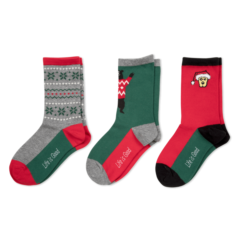 Your feet don´t always get the props they deserve. Our favorite crew socks are here to fix that, with fun designs, a cotton-rich composition for all-day wearability!