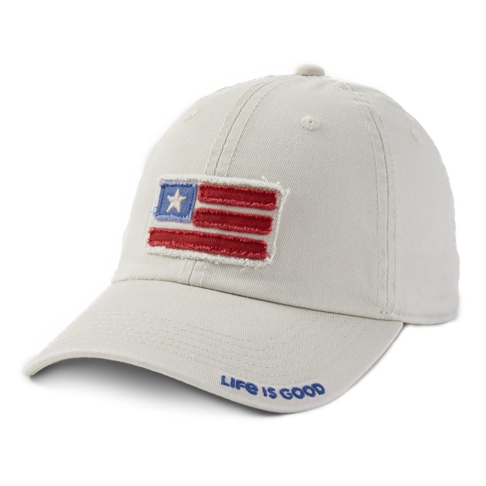 Life is Good American Flag Kids Chill Cap S Bone