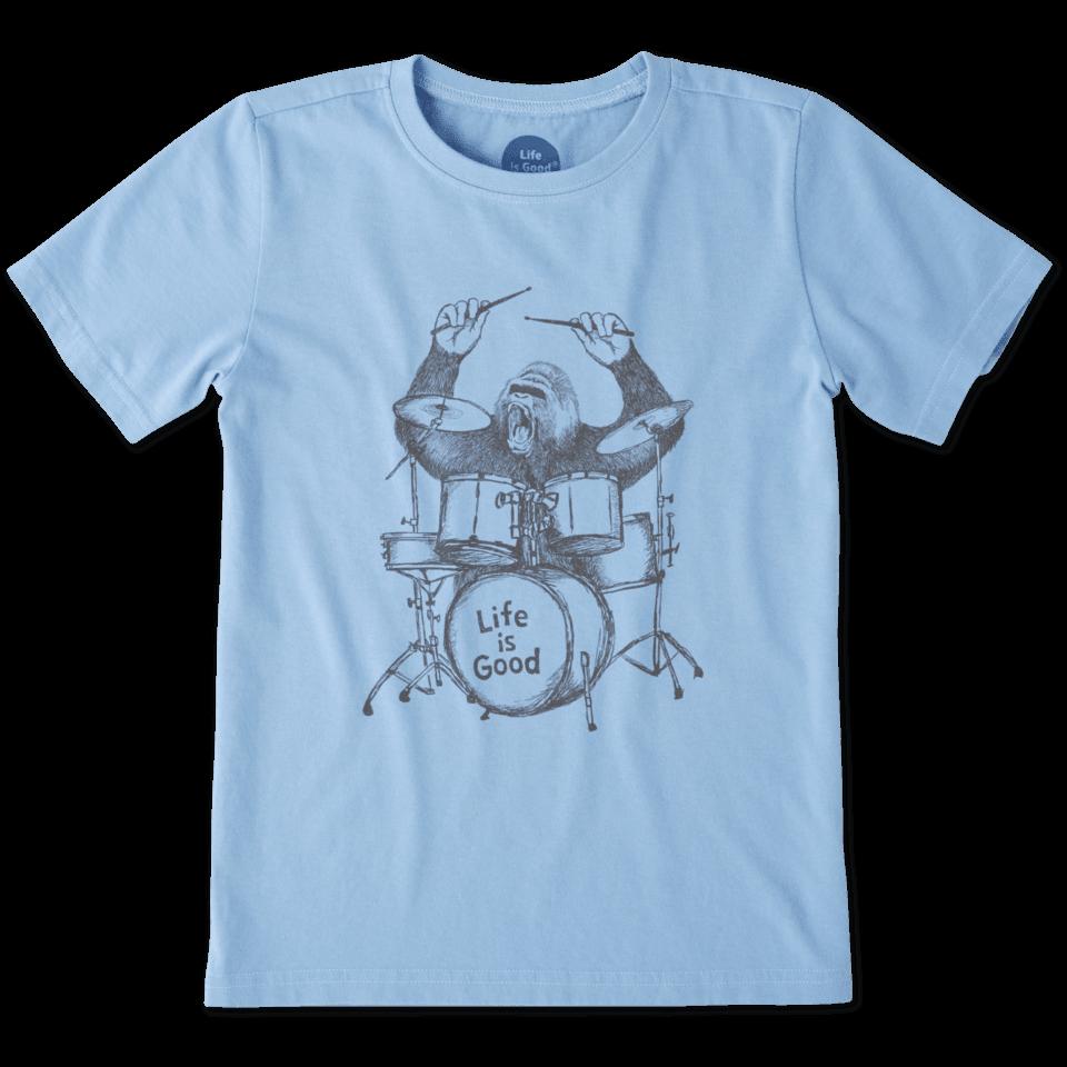Boys Gorilla Drumming Crusher Tee