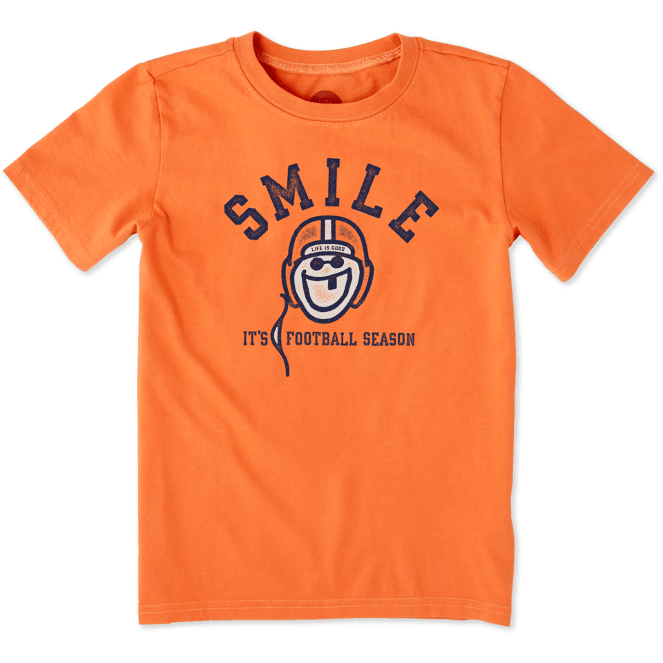 Boys Smile Football Crusher Tee