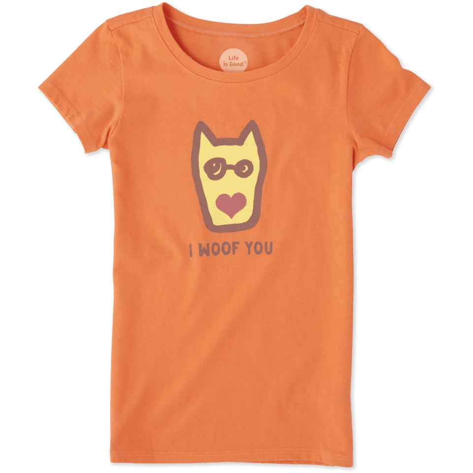 Girls I Woof You Crusher Tee