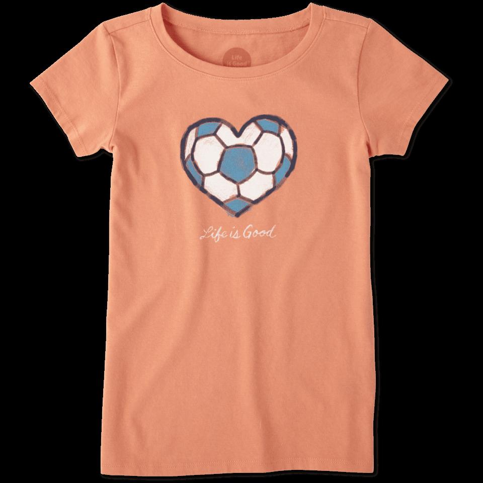 Girls Soccer Heart Crusher Tee