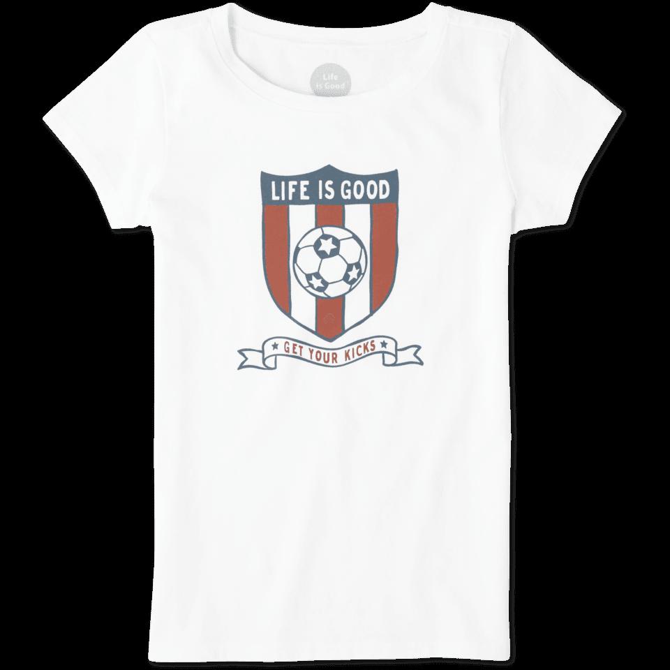 Girls Soccer Shield Crusher Tee