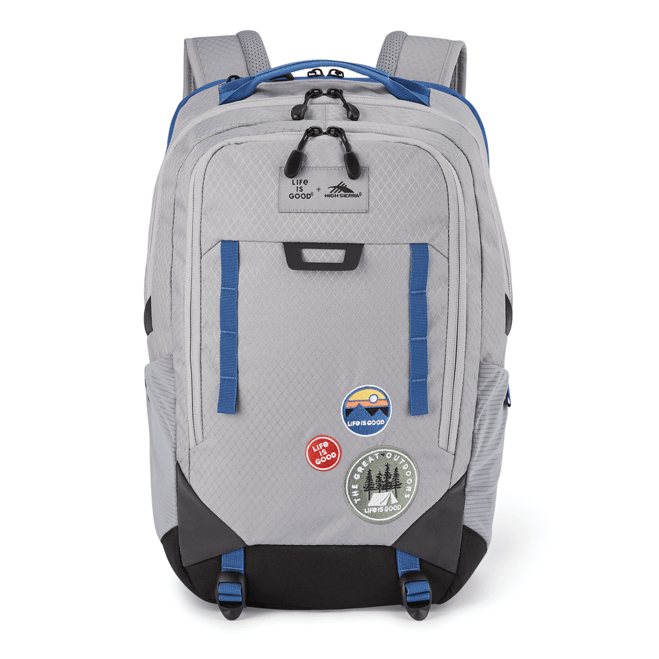Life is Good High Sierra Litmus Patch Backpack OS Slate Gray