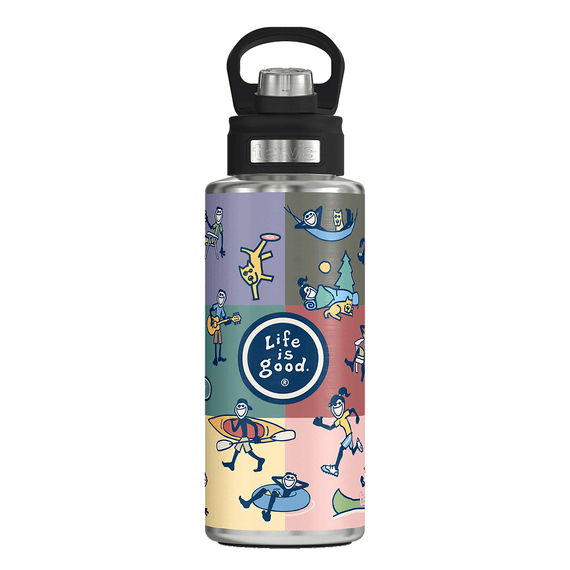 Tervis Jake Collage Stainless Steel Water Bottle Size 32 oz