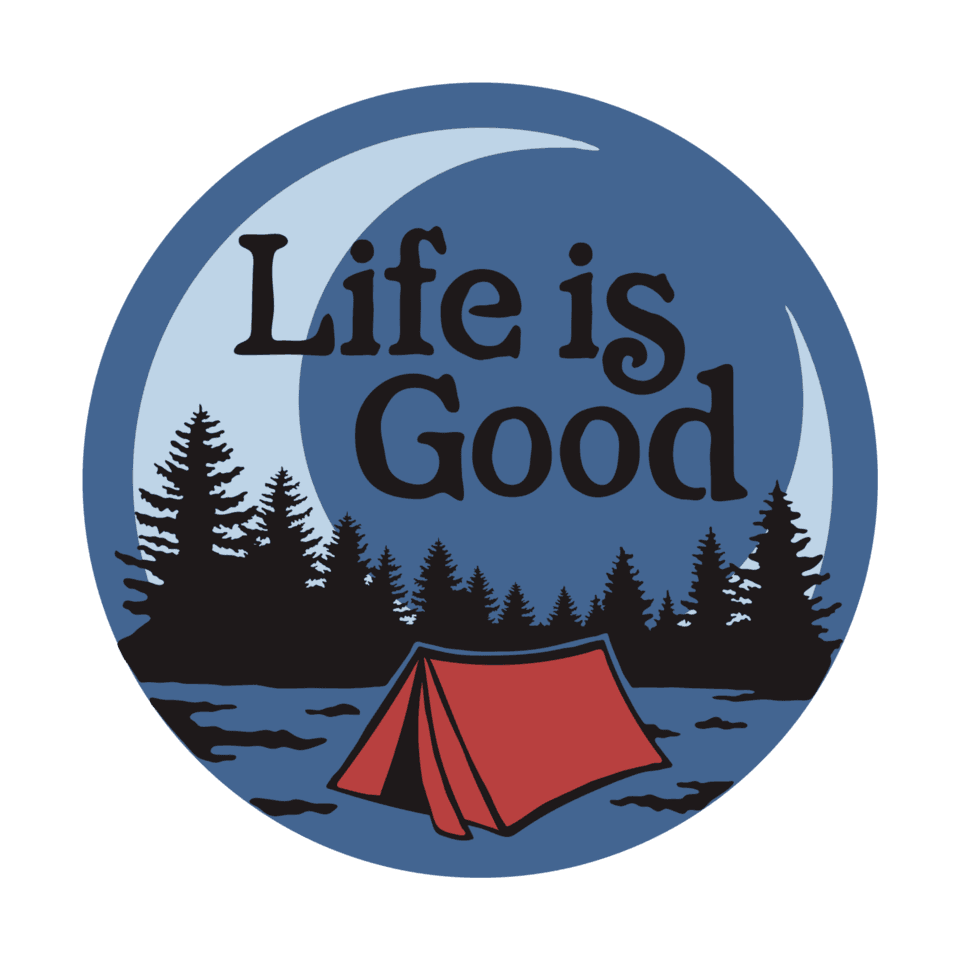 Life is Good LIG Camp Scenic 4-Circle Sticker OS Vintage Blue