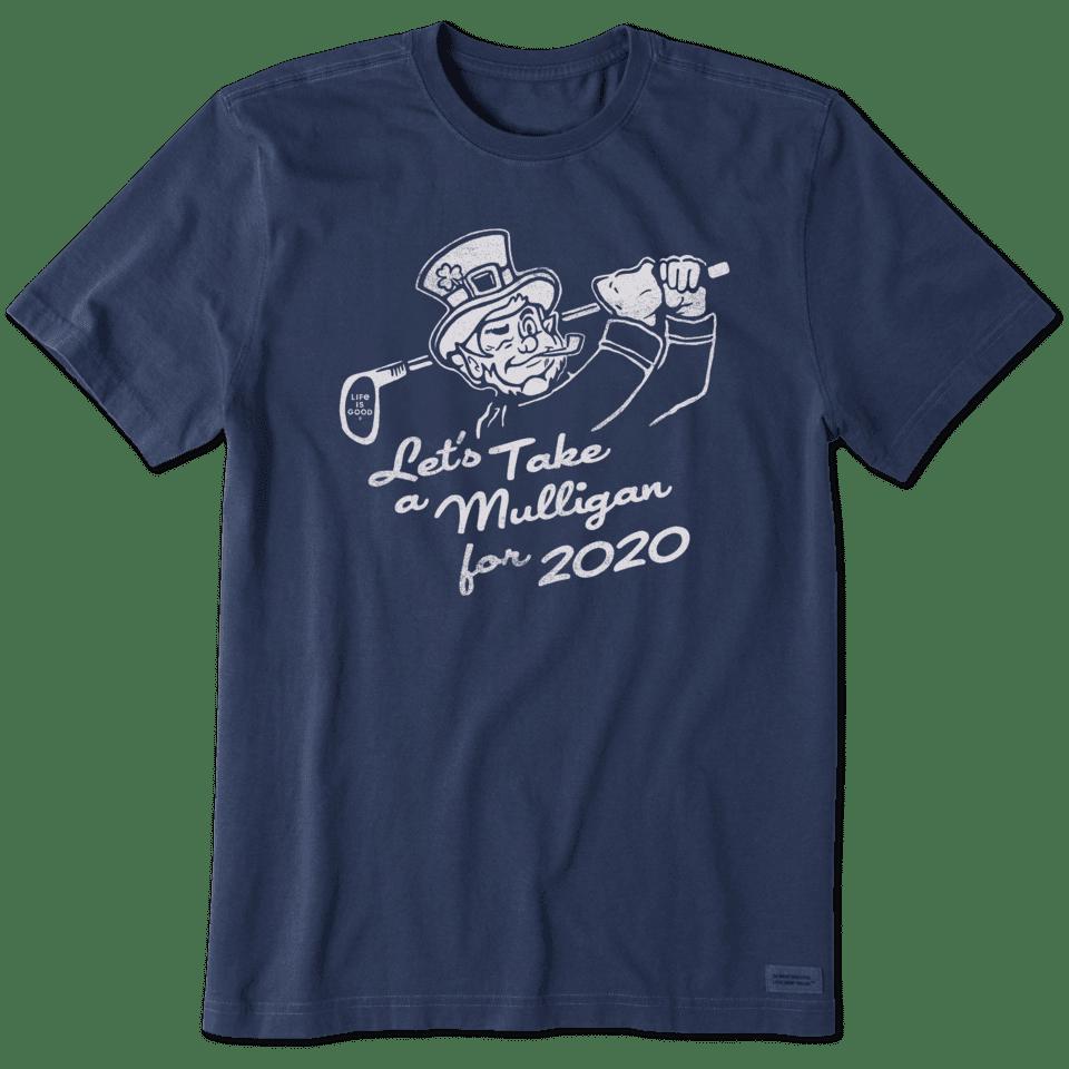 Life is Good Men's 2020 Mulligan Crusher Tee S Darkest Blue