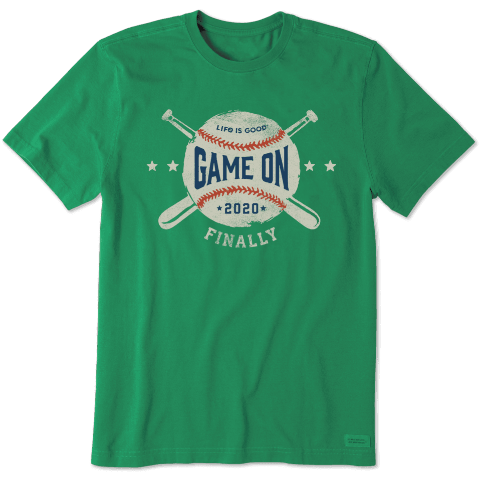 Life is Good Men's Game On Finally Crusher Tee M Jungle Green