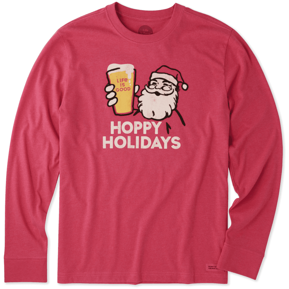 Men's Hoppy Holidays Long Sleeve Crusher Tee