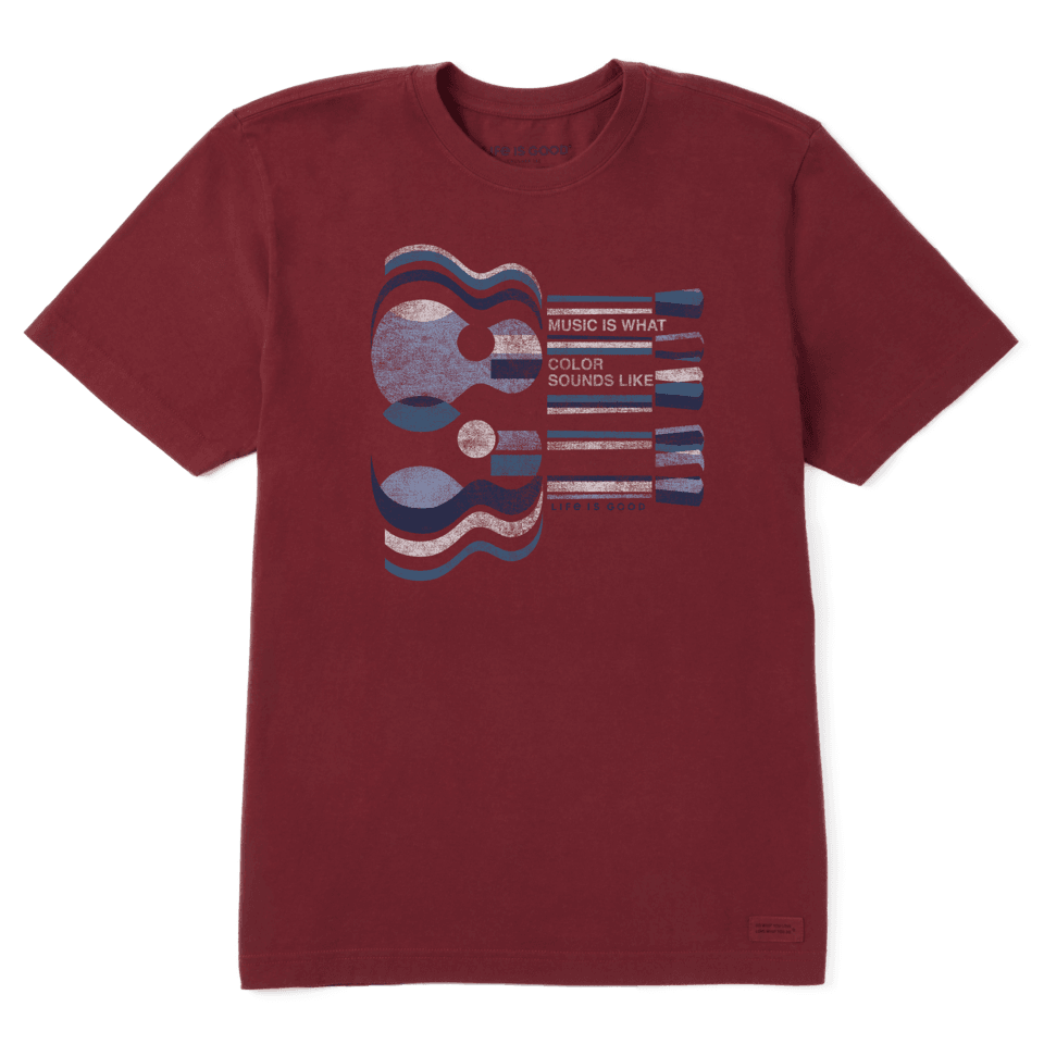 Life is Good Men's Music Is What Color Sounds Like Crusher Tee XXXL Cranberry Red