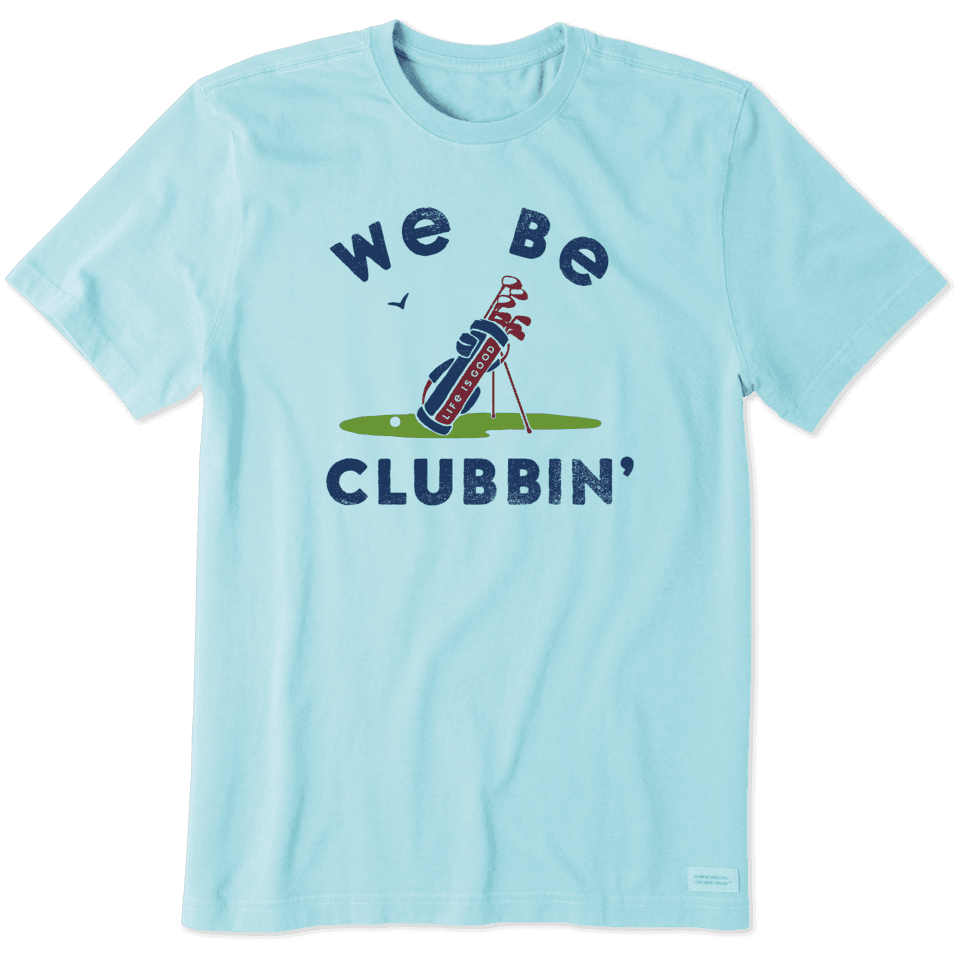 Life is Good Men's We Be Clubbin' Crusher Tee S Beach Blue