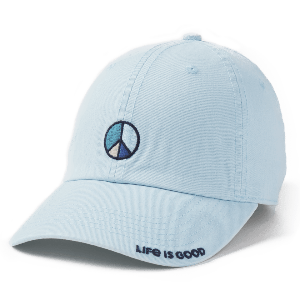 Life is Good Peace Vibes Chill Cap OS Beach Blue