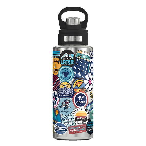Tervis Sticker Collage Stainless Steel Water Bottle, Size 32 oz