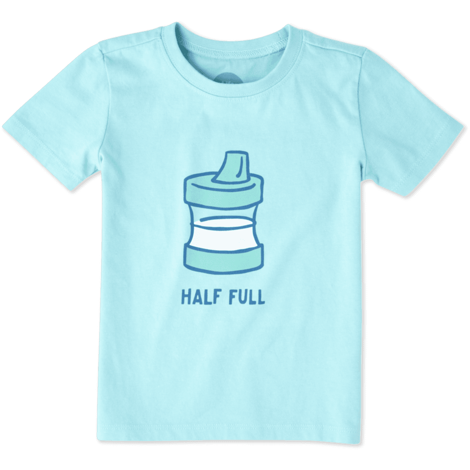 Toddler Half Full Sippy Cup Crusher Tee 48028-4T