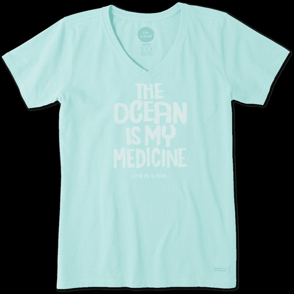 Women's Ocean Is My Medicine Crusher Vee 56397-L