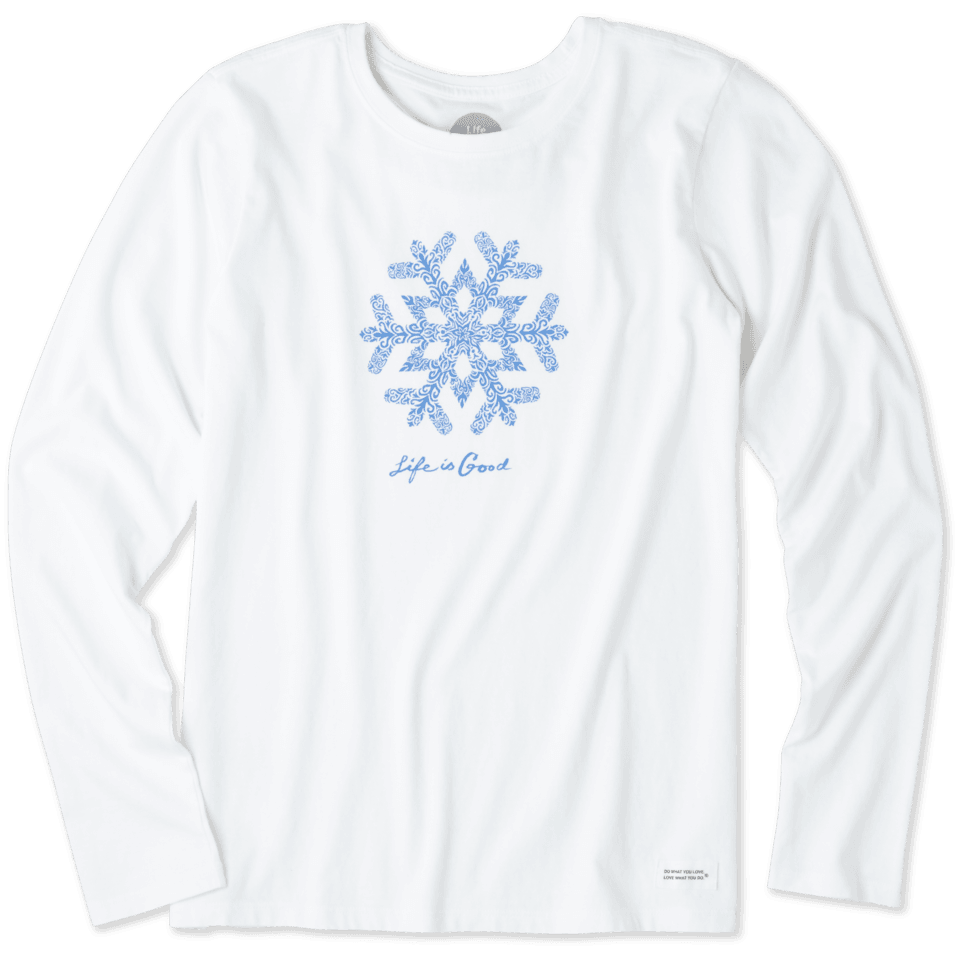 Women's Primal Snowflake Long Sleeve Crusher Tee