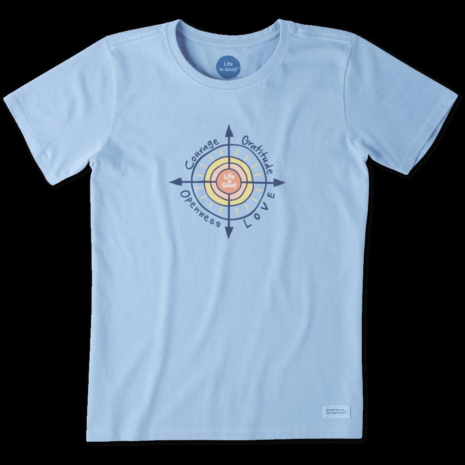 Women's Sun Compass Crusher Tee