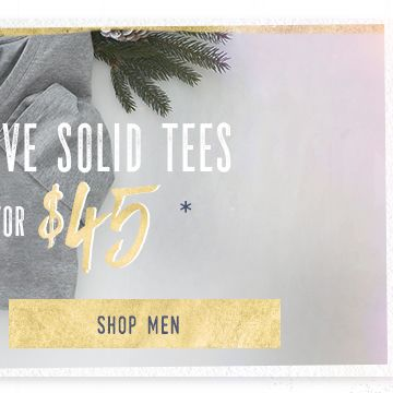 2 for $45 Men's Short Sleeve Solid Tees