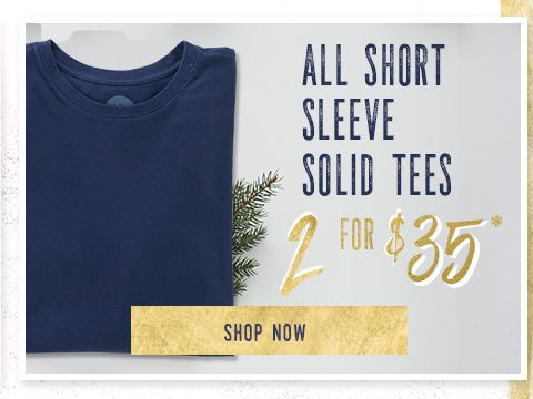 2 for $45 Short Sleeve Solid Tees