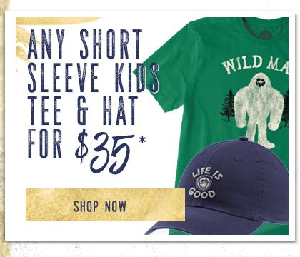 Any Short Sleeve Kids Tee & Hat for $35