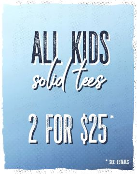 All Kids Solid Tees - 2 for $25