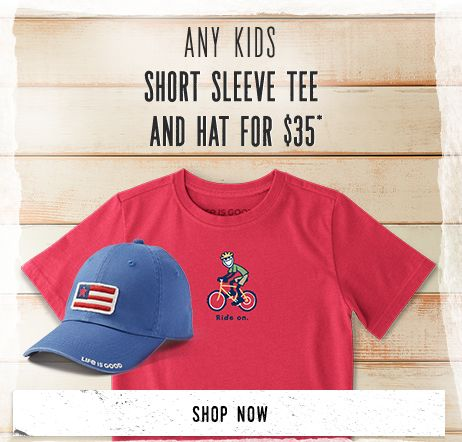Any Kids Short Sleeve Tee And Hat for $35