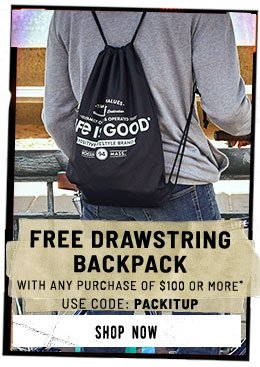 Get a Free Drawstring Bag when You Spend $100