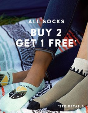 Buy 2 Socks Get 1 Free