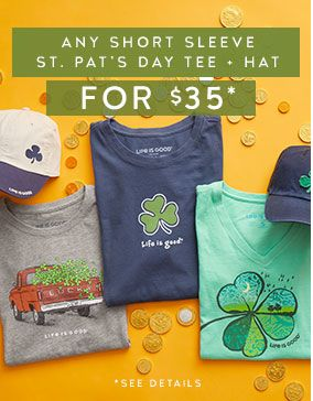 Get any St. Patrick's Day Short Sleeve Tee and a hat for $35