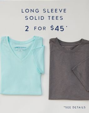 2 Long Sleeve Solid Tees for $45