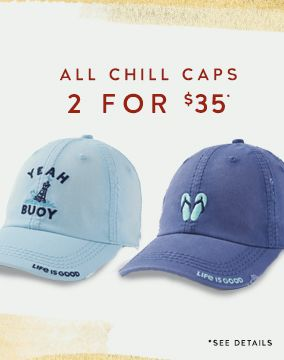 All Chill Caps 2 for $35