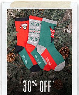 30% Off Socks & Slippers