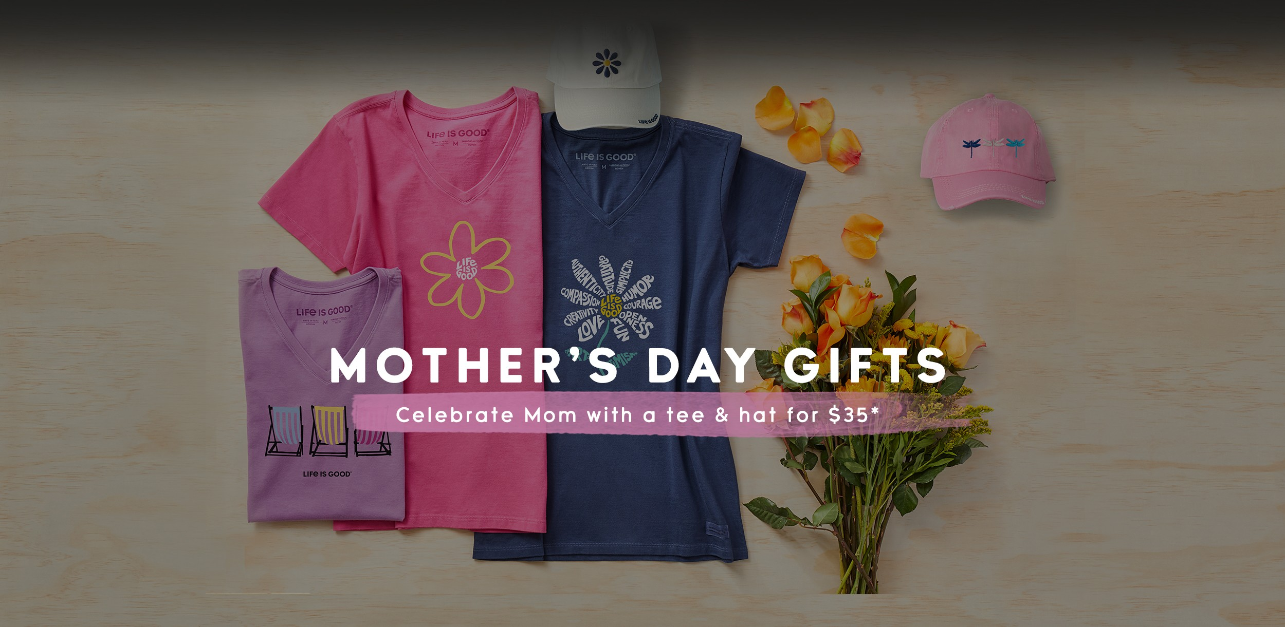 Get a Mother's Day Tee and Hat for $35