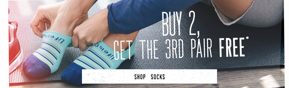 Buy 2 Pairs of Socks and Get the 3rd One Free