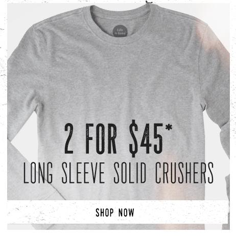 Shop Men's Solid Long Sleeve Tees and Get 2 for $45