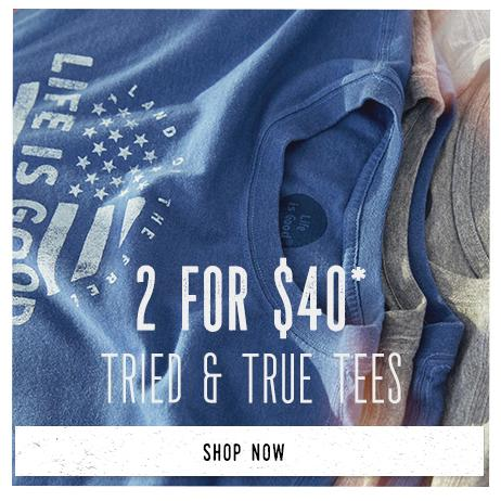 Shop Men's Tried & True Tees and Get 2 for $40