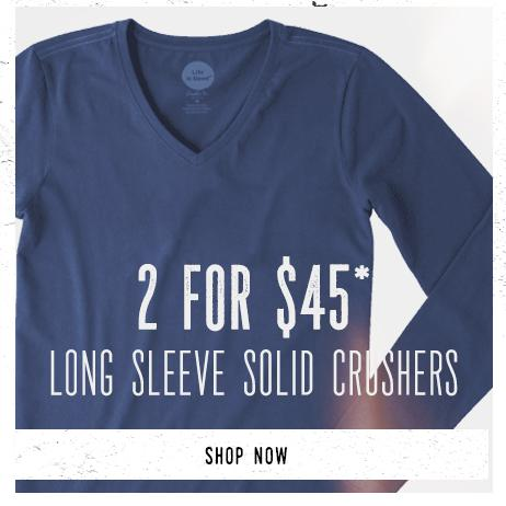 Shop Women's Solid Long Sleeve Tees and get 2 for $45