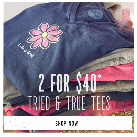 Shop Women's Tried & True Tees and get 2 for $40