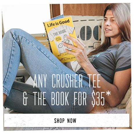 Any Crusher Tee & The Book for $35