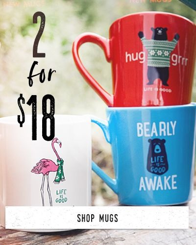 Shop Mugs and get 2 for $15