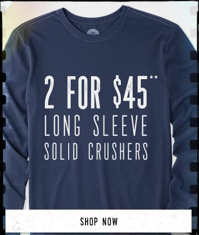 Men's Long Sleeve Solid Tees 2 for $45