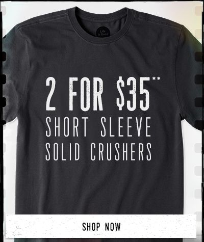 Men's Short Sleeve Solid Tees 2 for $45