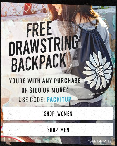 Free Drawstring Bag with the Purchase of $100