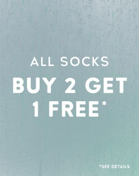 Buy 2 Pairs of Socks Get 1 Free
